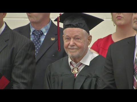 WWII veteran, 92, receives his diploma from Circleville High School 74 years after dropping out to s