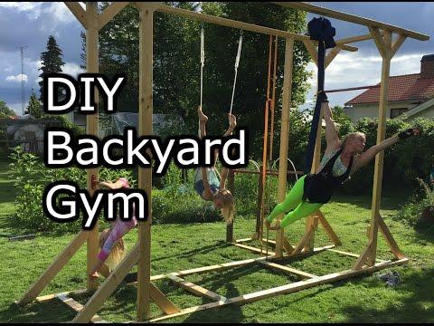 Homemade Backyard gym. How to make it simple.