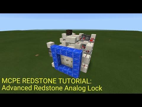 Minecraft Pocket Edition Redstone Tutorial: Advanced Analog Lock (MCPE 1.0.5)