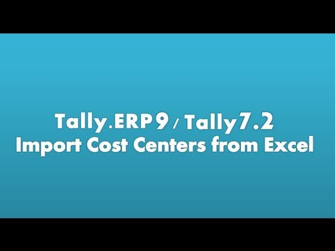 excel to tally.erp9