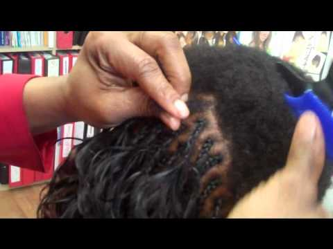 LEARN REAL BRAIDING PICK'N'DROP - ON CLIENT WITH SHORT AFRO HAIR