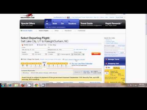 Booking a Southwest Rapid Rewards Flight