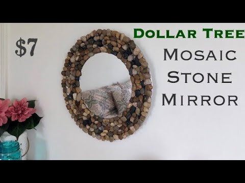 Dollar Tree DIY Mosaic Stone Mirror