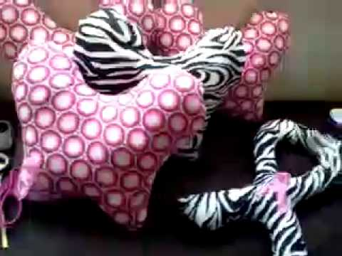 Hand made breast cancer recovery pillows