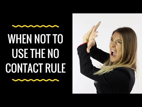 When NOT To Use The No Contact Rule (These Are The Exceptions)