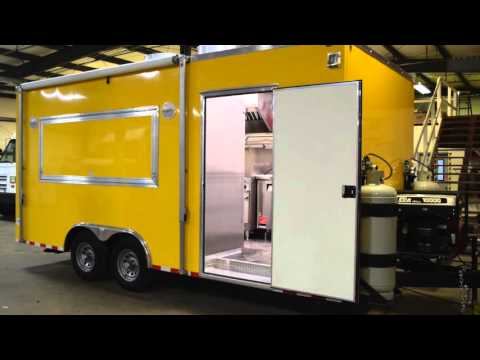 Horner Yellow Concession Trailer Built By Custom Concessions