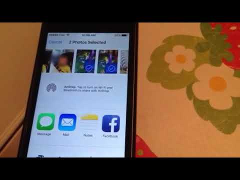 How to post photos pictures on Facebook from iphone tips