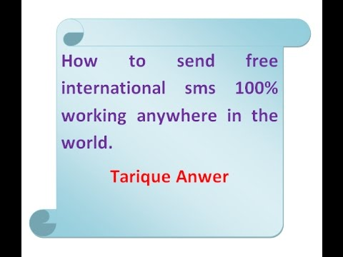 how to send international free sms, world wide sms for free anywhere in the world