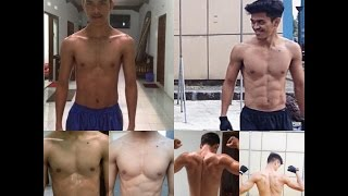 1 Year Incredible Body Transformation ( Calisthenic & Freeletics )