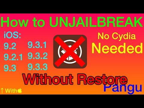 How to UNJAILBREAK iOS 9.2.3 - 10.2 How to Remove Cydia - ANY IDEVICE - iOS 9.3,9.3.3,10.1,10.2 Yalu