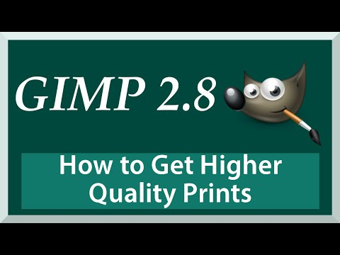 How to Get Higher Quality Image Prints with Resolution  - Gimp 2.8 Tutorial for Beginners