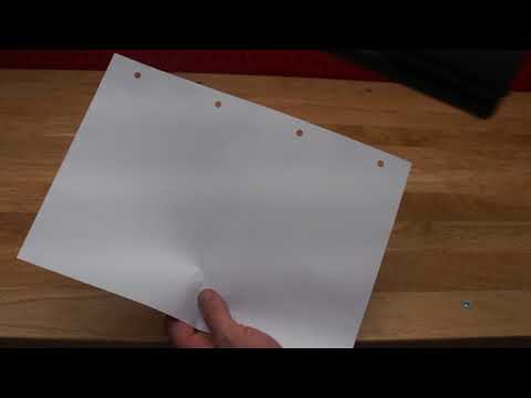 How to hole punch a 4 ring or 3 ring binder extremely quickly