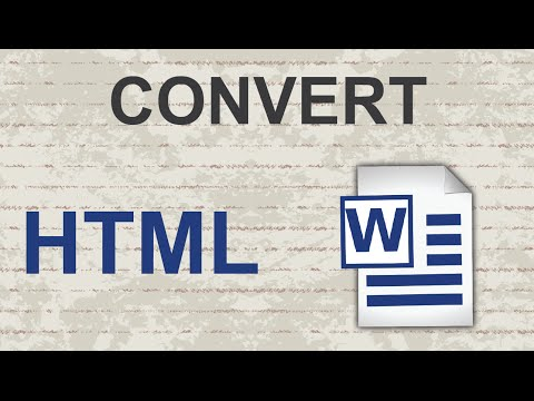 Convert HTML to Word 2015