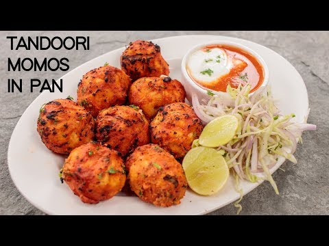 Tandoori Momos in a Pan - Street Style Momo Recipe - CookingShooking