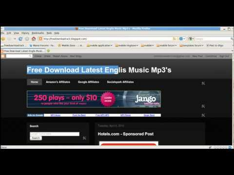 How to download a music album for totally free!(no audio)