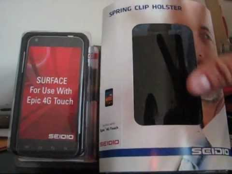 Seidio Surface Combo Case for Samsung Galaxy S II Epic 4G Touch Unboxing