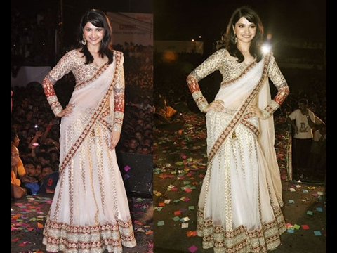 How to drape/wear a saree in lehenga style perfectly