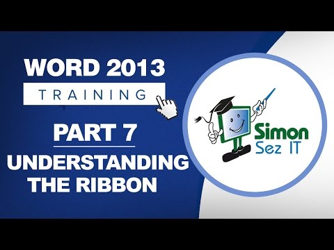 Word 2013 for Beginners Part 7: Understanding the Word 2013 Ribbon