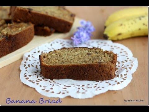 Eggless banana bread recipe