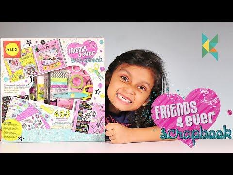 Alex Toys Craft Friends 4 Ever Scrapbook Kit, Multi Color