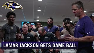 John Harbaugh's Post-Game Speech after Beating Dolphins | Baltimore Ravens