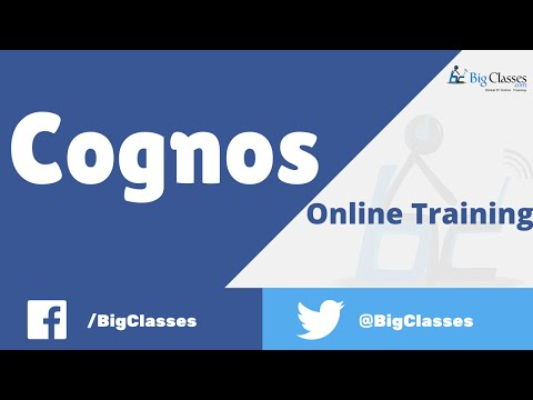 Cognos Online Training - Cognos Report Studio Tutorial for Beginners - Bigclasses