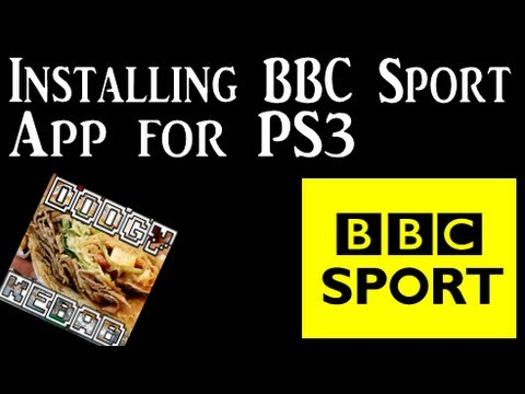Installing and using BBC Sport App on PS3