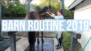 Barn Routine 2019 College Edition  Equestrian Prep