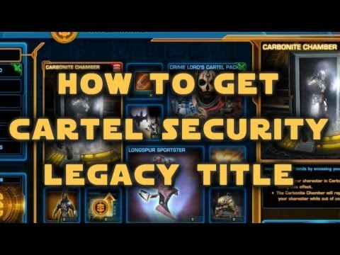 SWTOR Cartel Security Legacy Title - How To Get