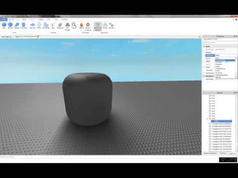 ROBLOX TUTORIAL: Basic Meshes (How to Create and use meshes) 1080p, Commentary. 2014