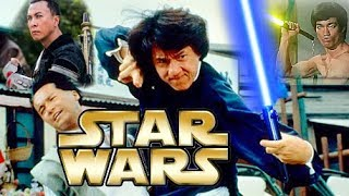 KUNG FU WITH LIGHTSABERS❌3 Jedi MASTERS: Bruce Lee, Jackie Chan, Donnie Yen☯! STAR WARS EPIC MASHUP!