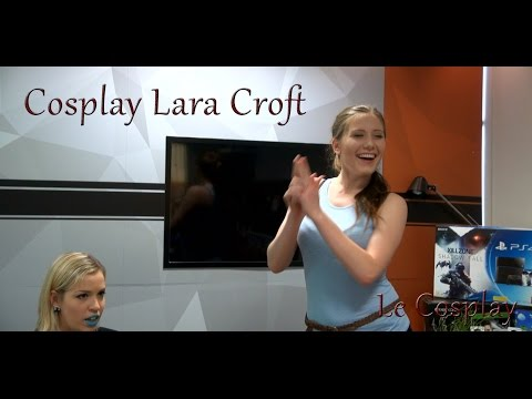 Cosplay Lara Croft émission Le Cosplay