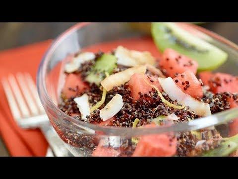 Lemony Quinoa and Watermelon Salad