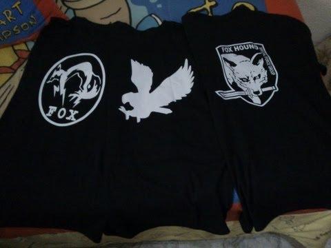 Unboxing camisetas Metal Gear Online!