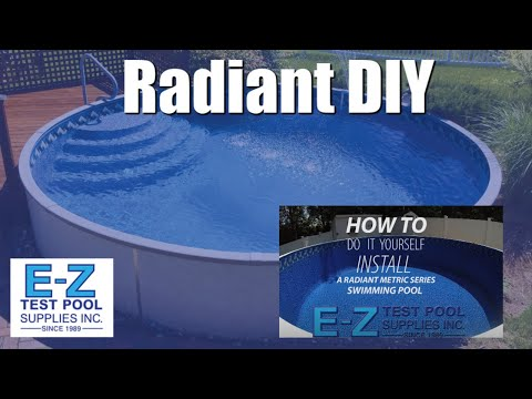 How to Install a 15ft Round Radiant Metric Series Swimming Pool