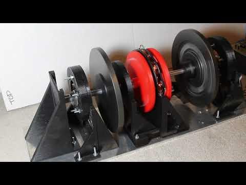 Levitating Flywheel Energy Storage Device - 3 Phase Brushless Axial Motor