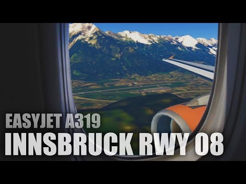 Infinite Flight Global - EasyJet A319 - Innsbruck Runway 08 Landing [REALISTIC]