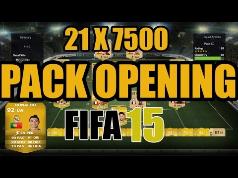 Fifa 15 ULTIMATE TEAM  PACK OPENING - 21 X 7500 PACKS WTF ! - XBOX ONE GERMAN HD