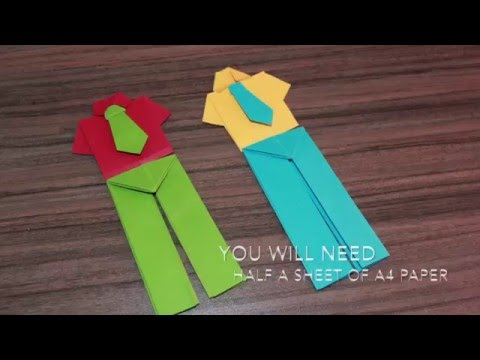 #HOWTO#MAKE A PAIR OF  #Origami#PAPER PANTS....