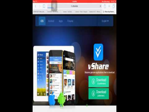 How to download vshare and irec on I.o.s 8