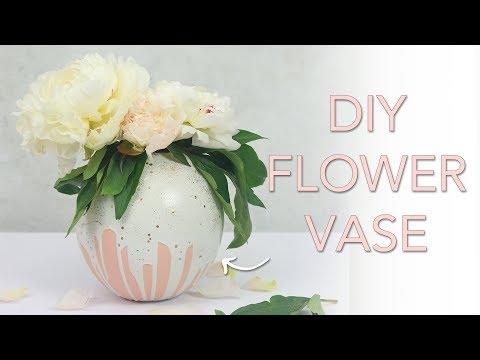 DIY Plaster Flower Vase | Plaster of Paris Crafts