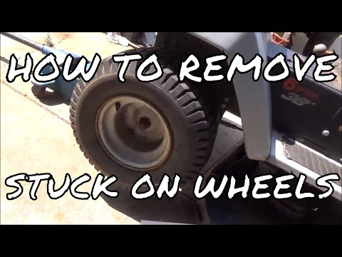 How To Remove Rusted on Lawn Tractor Wheels