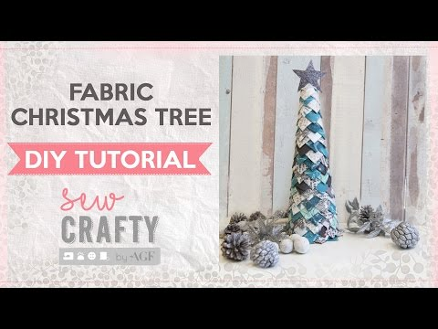 Fabric Christmas tree tutorial - fun no-sew project