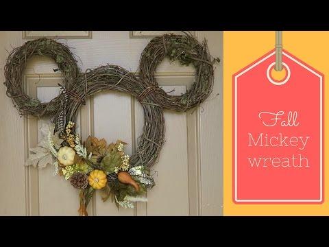 Fall Mickey Wreath- Disney DIY