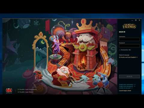 how to change league of legends new client to old client 2016