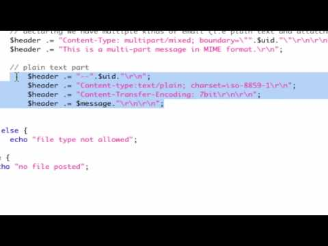 PHP mail attachment - sending an attachment with PHP
