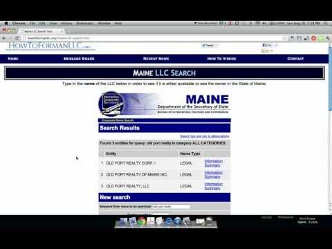 How to Form an LLC in Maine