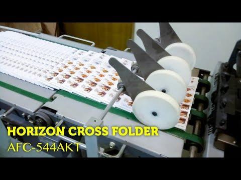 Horizon Cross Folding Machine (AFC-544AKT) Working