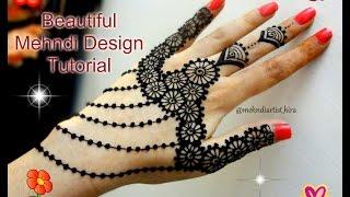 Beautiful Henna Mehndi Jewellery : How to apply easy simple jewellery henna mehndi designs for hands
