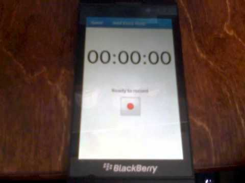 How to make a voice note in blackberry 10